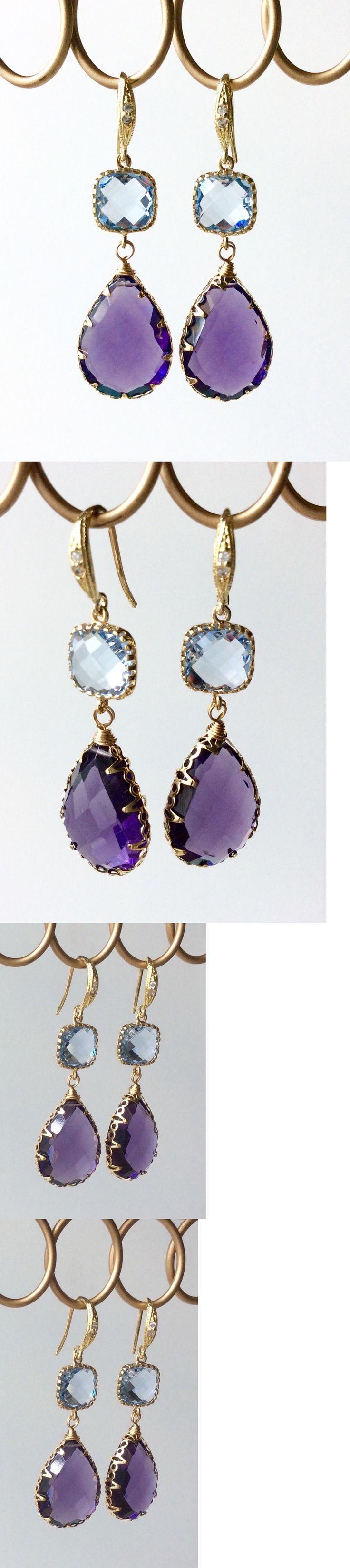 Earrings 110645: Grace Chan Indulgems Rock Candy Amethyst 18K Gold 2-Station Teardrop Earrings -> BUY IT NOW ONLY: $32.95 on eBay!