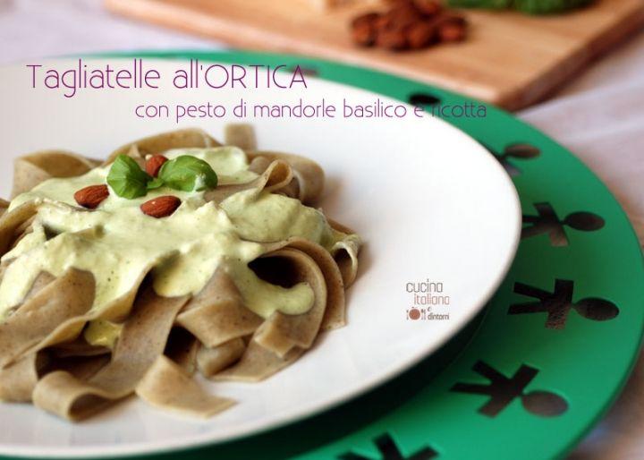 #Tagliatelle all' #ortica con #pesto di #basilico #ricotta e #mandorle http://blog.giallozafferano.it/cucinaitalianaedintorni/tagliatelle-allortica-con-pesto-di-mandorle-basilico-e-ricotta/