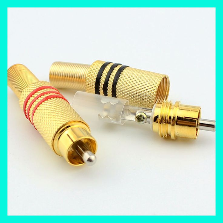 10pcs High-quality RCA Connector Plug Lotus,Audio and Video Connector Jack 339 Free Solder  Gold-plated Free Welding #Affiliate