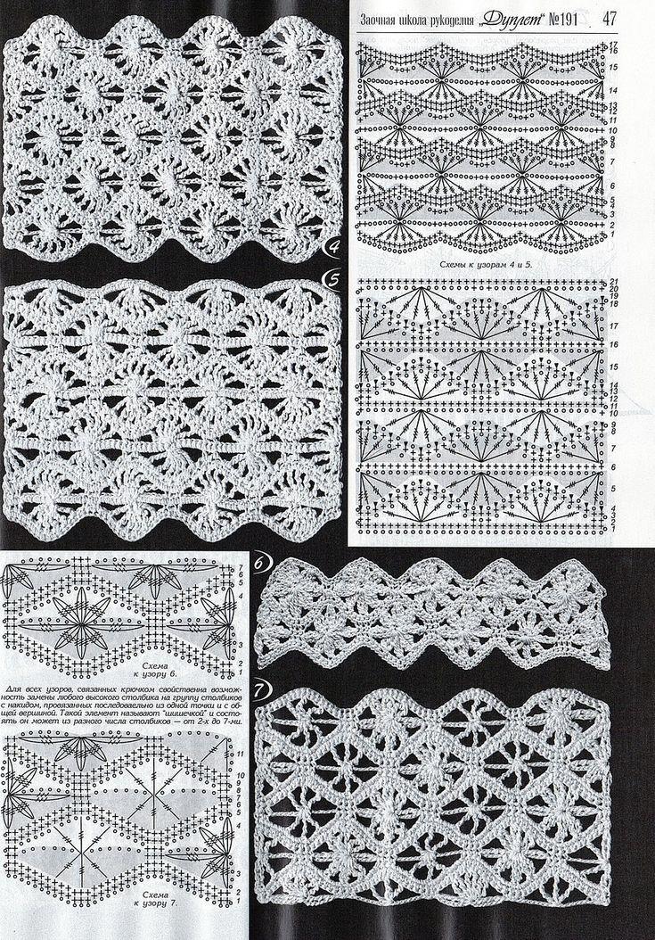 279 best Crochet edgings images by Charlotte English on Pinterest ...