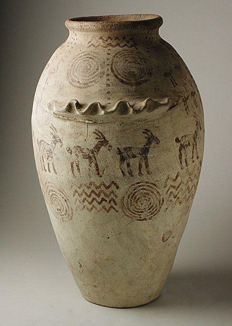 Decorated predynastic vessel 5500-3050 bce--Egypt