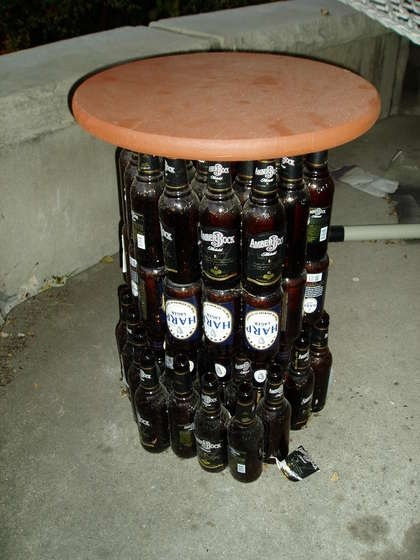 Beer Bottle table