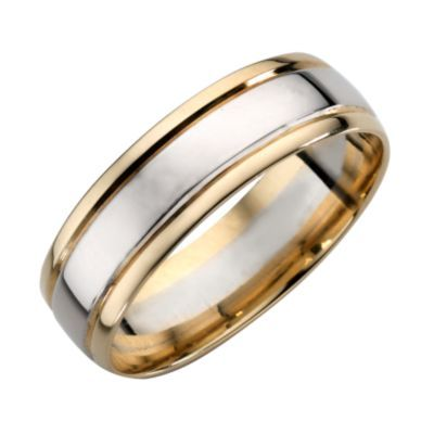 9ct Yellow And White Gold Wedding Band H Samuel The Jeweller