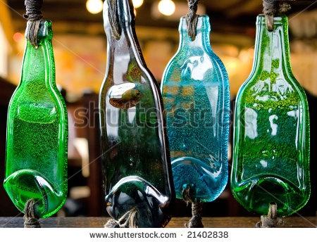 former bottles, current bottle art