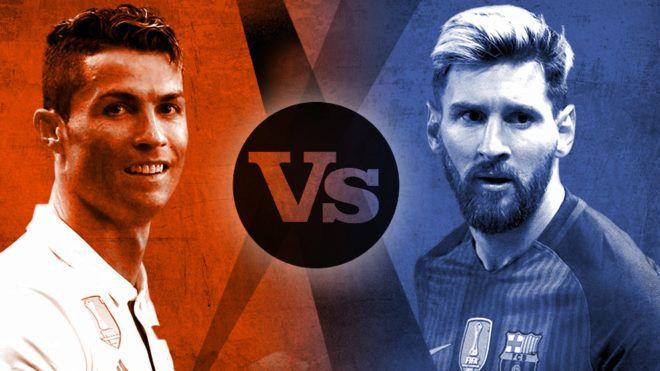 Cristiano Ronaldo and Lionel Messi. #realmadrid