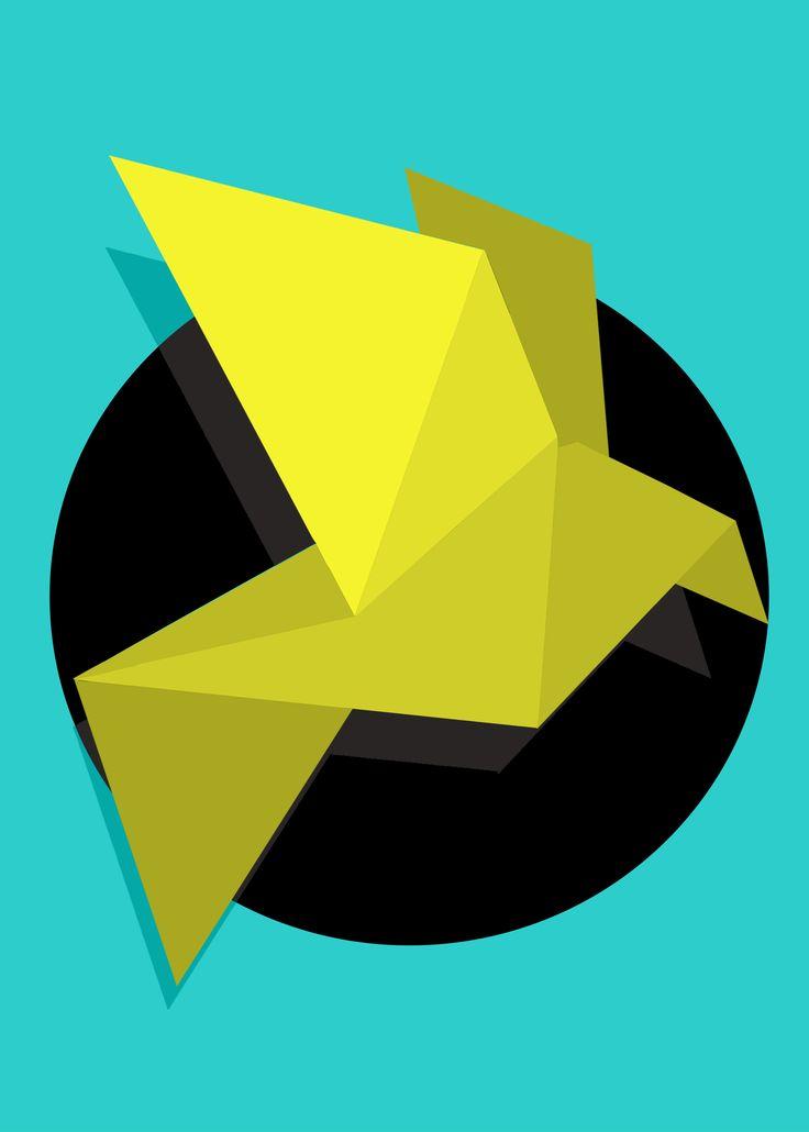Bird Origami - Digital Art