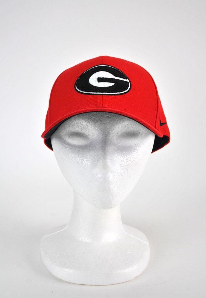 Georgia Bulldogs Nike NCAA Football Cap Hat Embroidered DRI-FIT Red UGA Cap   Nike  GeorgiaBulldogs f457c5d5a13