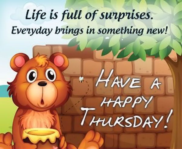 Happy Thursday! Wishing You A Very Blessed And Wonderful Thursday