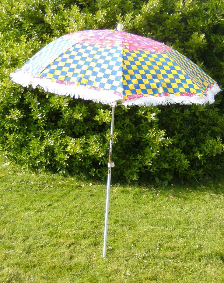 Vintage flowery garden parasol sun umbrella - VW - camper ...