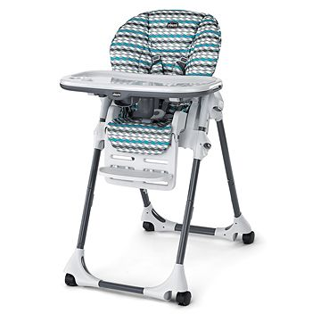Chicco Polly Highchair Vapor I like that the material is vinyl for easy clean up.