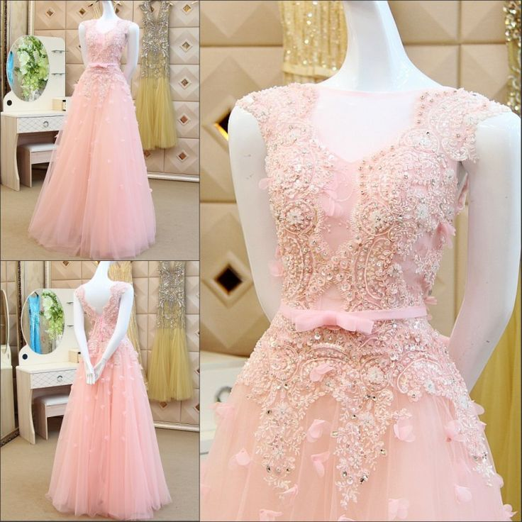 Find More Evening Dresses Information about abendkleider 2016 Luxuries robe de soiree vestidos de fiesta Pink Appliques Beads robe de soiree courte Party Evening Dress,High Quality beaded first communion dresses,China beaded strap dress Suppliers, Cheap dress funny from wellbridal dresses 738196 on Aliexpress.com
