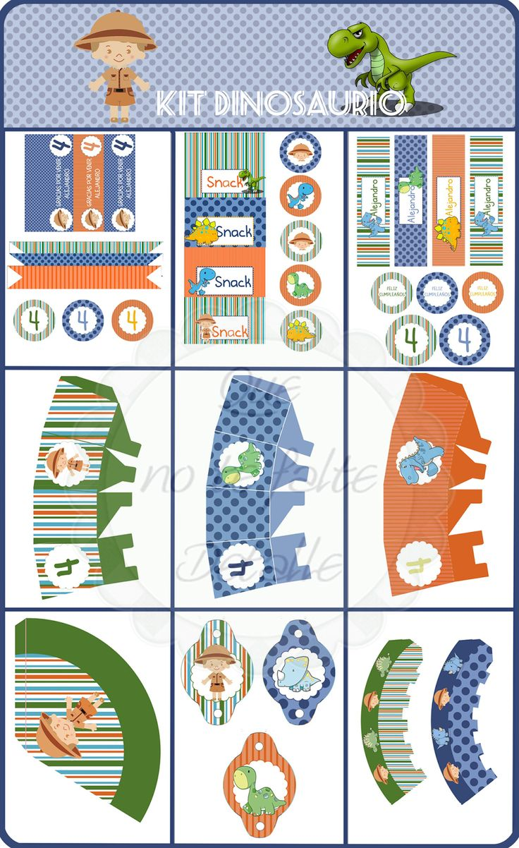 Te invito a una Fiesta Jurásica - Kit Imprimible para Fiesta Temática de Dinosaurios