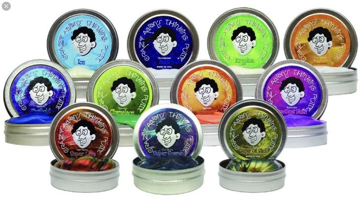 Crazy Aaron's Thinking Putty 5cm Tin Toy Gift.Hypercolor, glow in the dark.