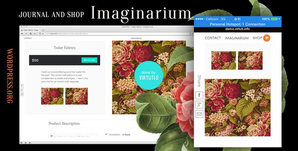 Journal and Shop wordpress theme