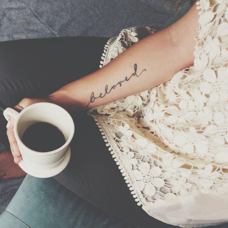More and more I like the idea of a script tattoo.