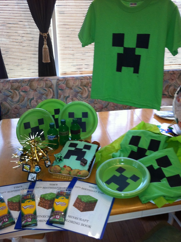 Minecraft Party Stuff