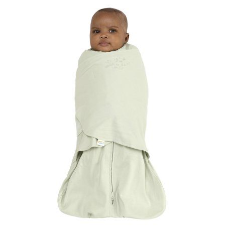 Halo Sleepsack Swaddle - 100% Cotton - Sage - Newborn, White