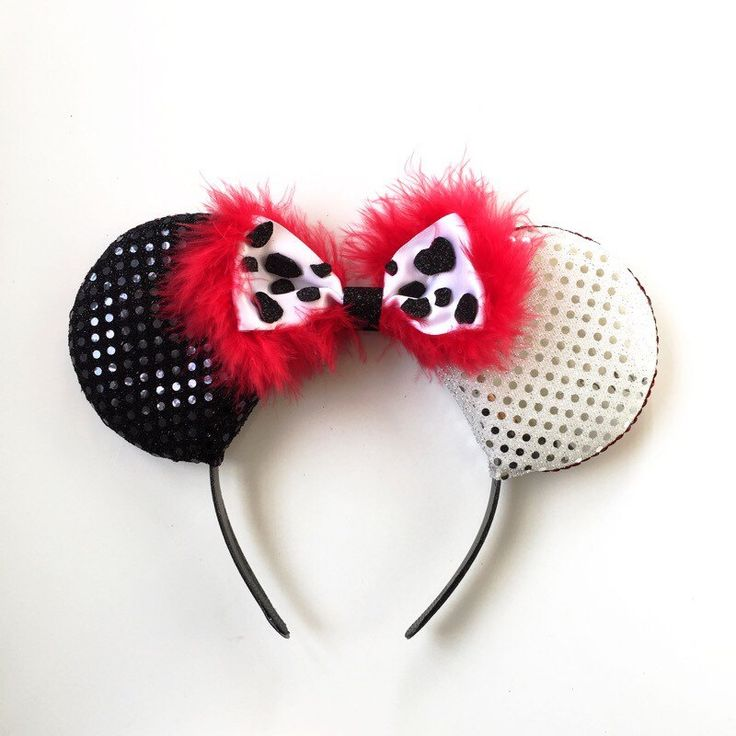 A personal favorite from my Etsy shop https://www.etsy.com/listing/252725857/cruella-ears-cruella-de-vil-disney
