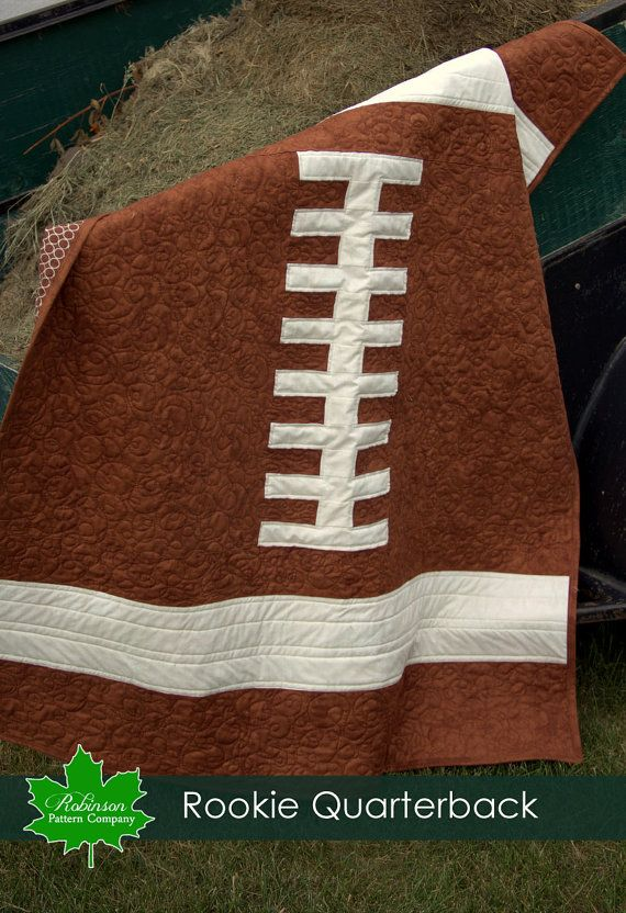 CUTE Football quilt! Baby Quilt Pattern