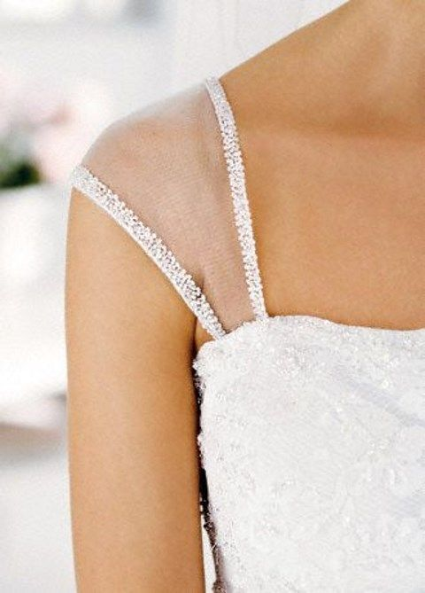20 best images about add sleeves to strapless dress on for Adding straps to wedding dress