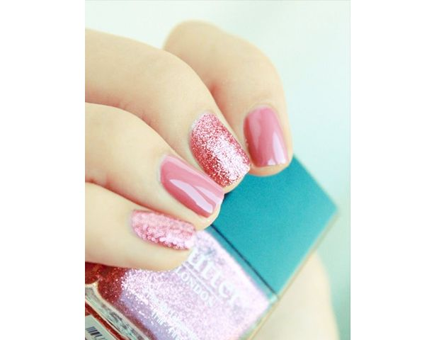 @Byrdie Beauty - Pretty in Pink    Channel your inner girly-girl with this perfectly-pink mani.  Photo courtesy of Pshiiit.com