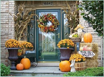 decoration autumn porch decorating ideas country living porch transparant glass front door orange squase yellow flower wonderful decoration unique and - Fall Outdoor Decorating Ideas