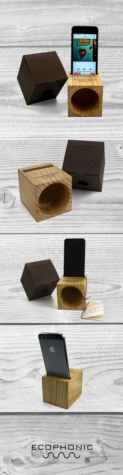 Wooden Speaker for iPhone - Spanish wood and design #Ecophonic