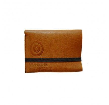 porte-carte cuir marron souple compact de qualité