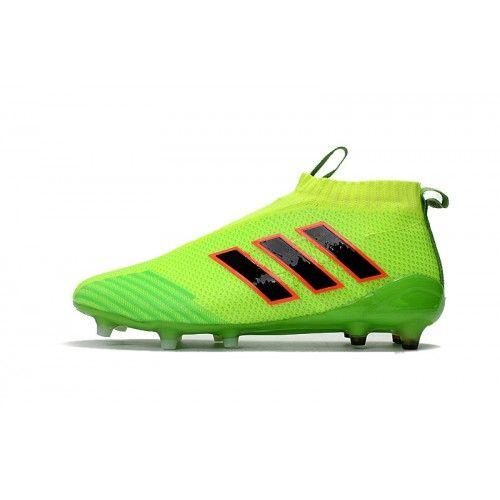 Botas de fútbol de niños Adidas ACE 17+ PureControl FG Verde Negro Rojo