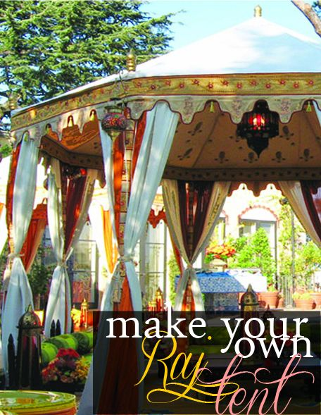 13 Ideas For Creating A More Manly Masculine Bathroom: Make Your Own Raj Tent!!!!