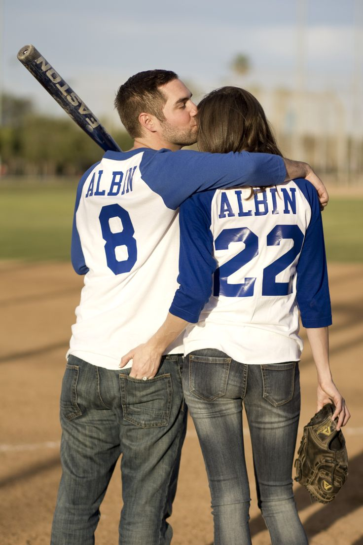 Baseball Save the Date Picture. Sherseys showing the date. Photo Credit: Alexis Cornejo #SaveTheDates