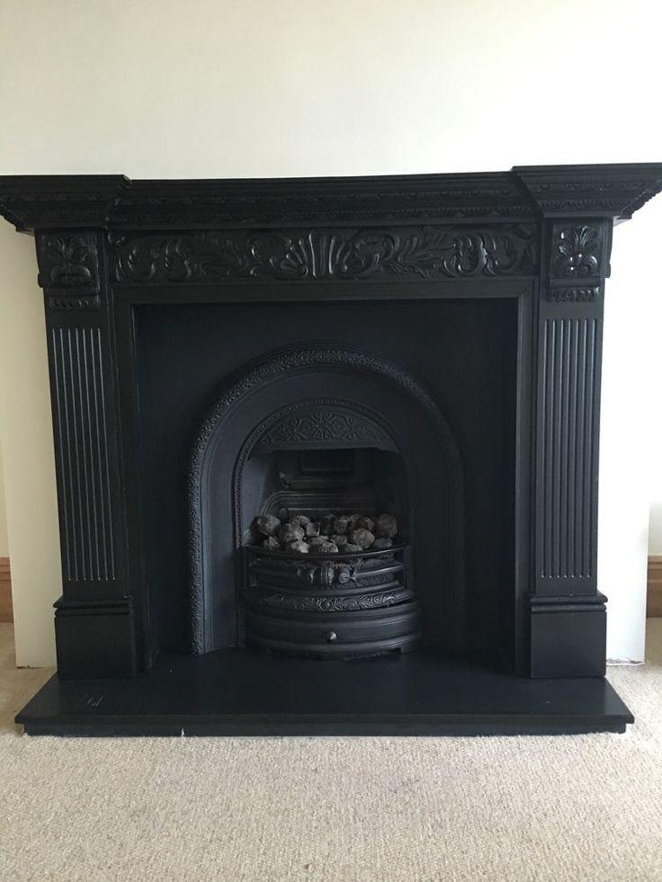 80 Off Antique Cast Iron Fireplace Mantel Surround Parts