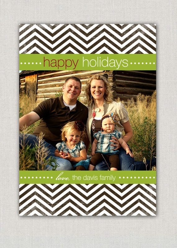 Chevron Christmas Card, love this just change the colors.