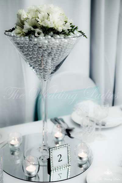 Martini glass centerpieces vases cm giant