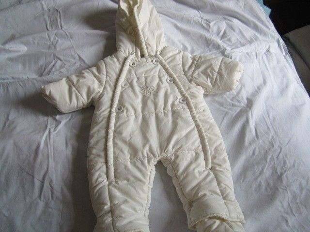 piumino da neonato bianco da 3-6 mesi