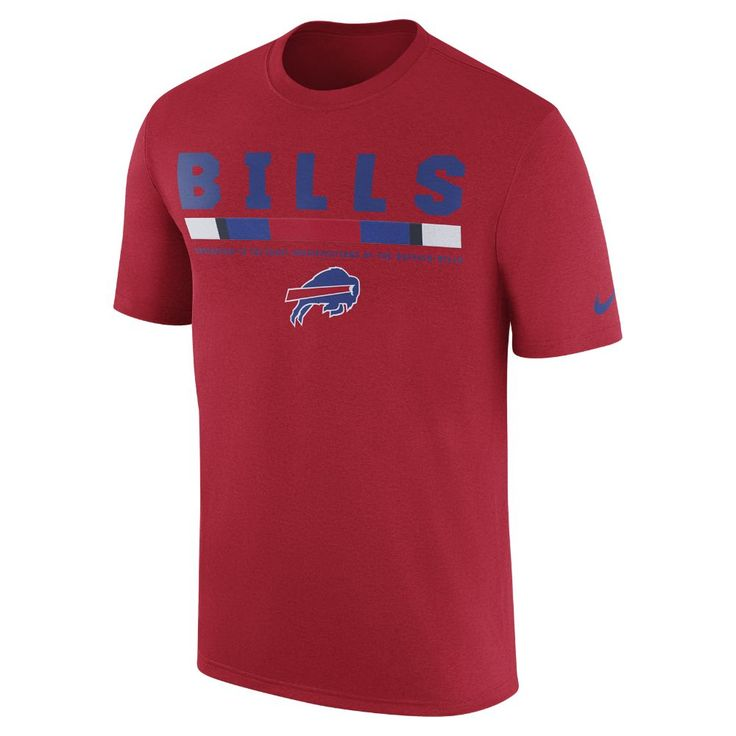 Nike Dry Legend Staff (NFL Bills) Men's T-Shirt Size XL (Red)