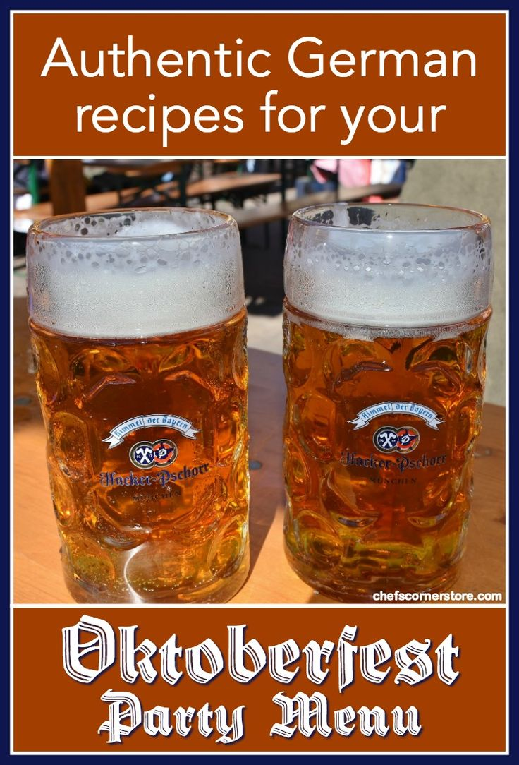 Authentic Dishes for Your Oktoberfest Party Menu – Party Time