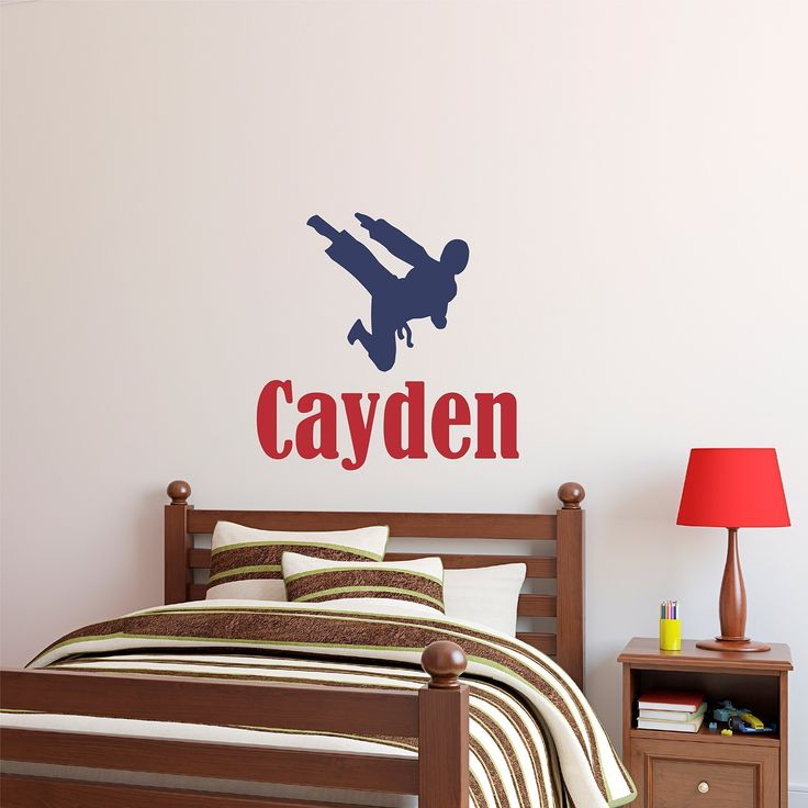 Custom Name Martial Arts Wall Decal   Boys Girls Personalized Name Martial  Arts Karate Wall Sticker   Custom Name Sign   Custom Name Stencil Monogram    Boys ... Part 80