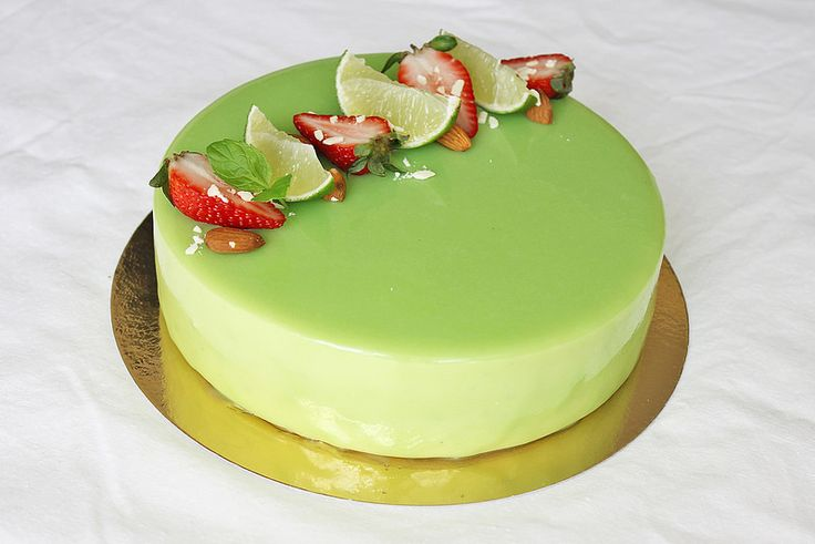 Strawberry Lime mint mojito mousse cake entremet ...