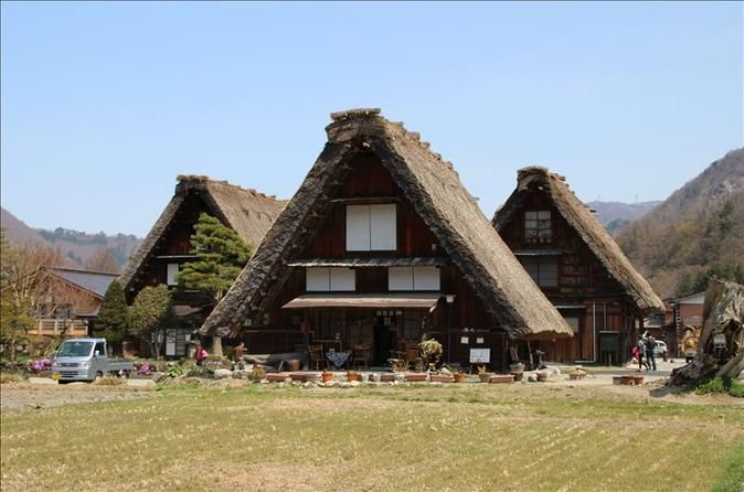 "2-Day Tateyama Kurobe Alpine Route, Shirakawago and Hida-Takayama Bus Tour from Osaka Enjoy this overnight trip from Osaka to visit the World Heritage site, Shirakawago, and Hida Takayama, also known as ""Little Kyoto."" You'll stay overnight in the relaxing Toyama prefecture. The following day, you'll travel though the Tateyama Kurobe Alpine Route and visit the Snow Wall Otani where you can experience being surrounded by snow even during the spring.Once you meet at your designa..."