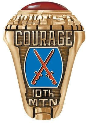 Army Rings for the 10th Mountain, this ring can be personalized with name and dates of service #usarmy