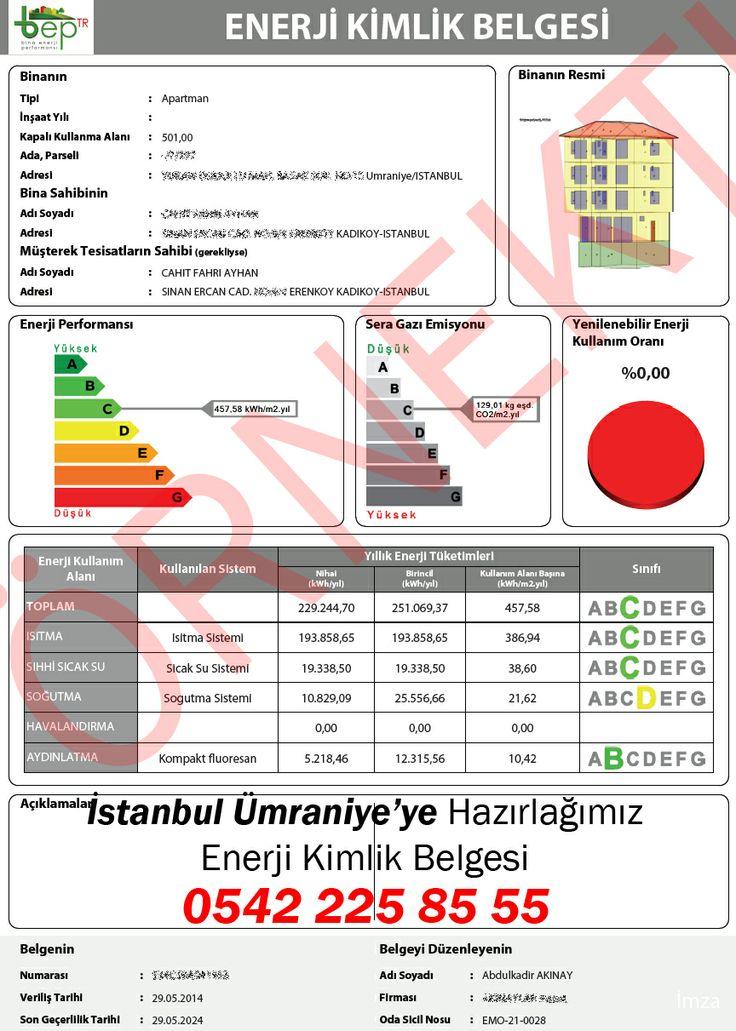 İstanbul Ümraniye'de Cahit Fahri AYHAN'a ait binanın enerji kimlik belgesi'ni biz hazırladık! İstanbul iline hazırladığımız enerji kimlik belgesi örneklerini incelediniz mi ?, http://www.enerjikimlikbelgesiburda.com/enerji-kimlik-belgesi-referanslar/turkiye-il-il-hazirladigimiz-belgeler/marmara-bolgesi/istanbul/ Alo EKB   0542 225 0 555