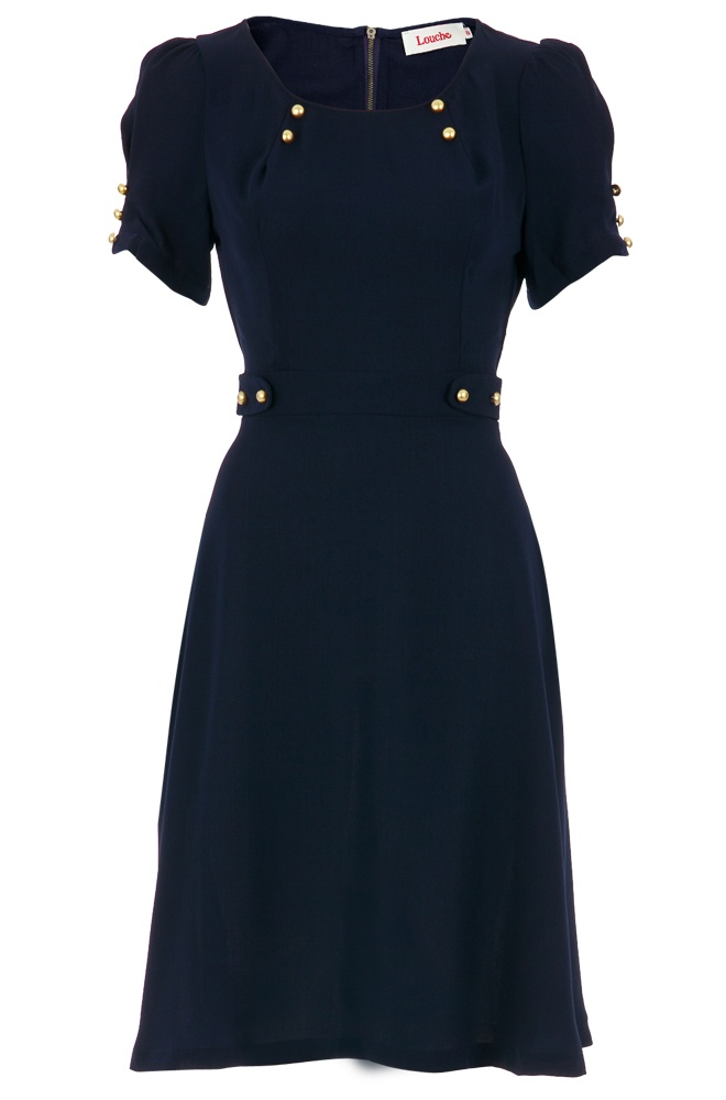love this retro 40's style dress.. @Maridon Bradley Oakvik.. I think you'd look so cute in this!