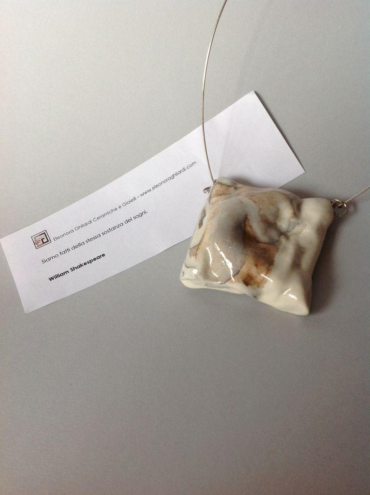 SWEET DREAMS  Collana - porcellana - argento  Necklace - porcelain - silver