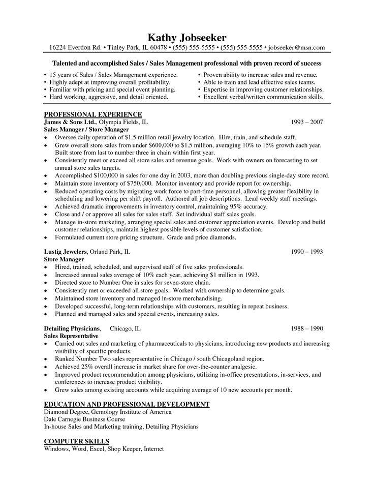 9 Best Sample Resume Images On Pinterest Sample Resume Resume