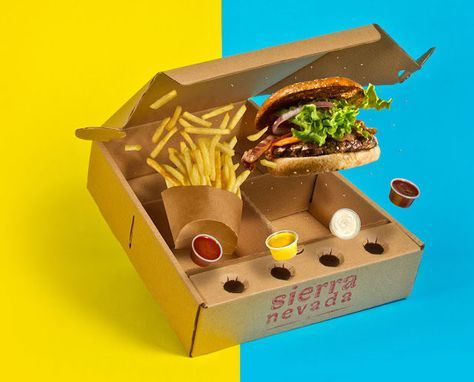 Burger Delivery Boxes : Delivery Box