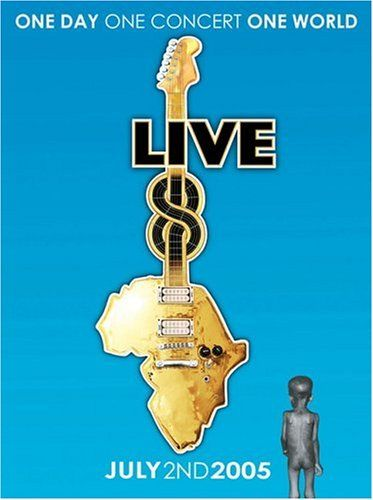 Live 8  4 DVD set from the July, 2005 series of concerts timed to coincide with the G8 summit in Scotland. Artists include Paul McCartney, U2, Coldplay, Elton John, REM, Black Eyed Peas, Muse, Snoop Dogg, Destiny's Child, Kanye West, Madonna, Will Smith, Linkin Park, Joss Stone, Sting, Stevie Wonder, the Who, Pink Floyd and many more. This package features every performer from the Hyde Park and Philadelphia concerts together with highlights of the other shows. 120 tracks in all plus ..