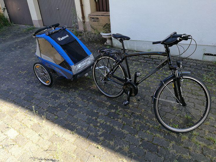 Fahrrad und Hänger im Test Qeridoo KidGoo 1 & Alpina Metro