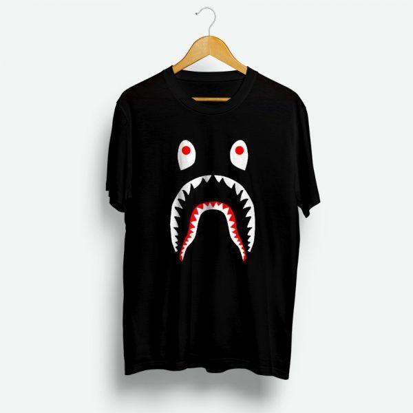 Fashion Men/'s Bape Shark Jaw Casual Tops A Bathing Ape  Unisex Vests Tee S-XXL