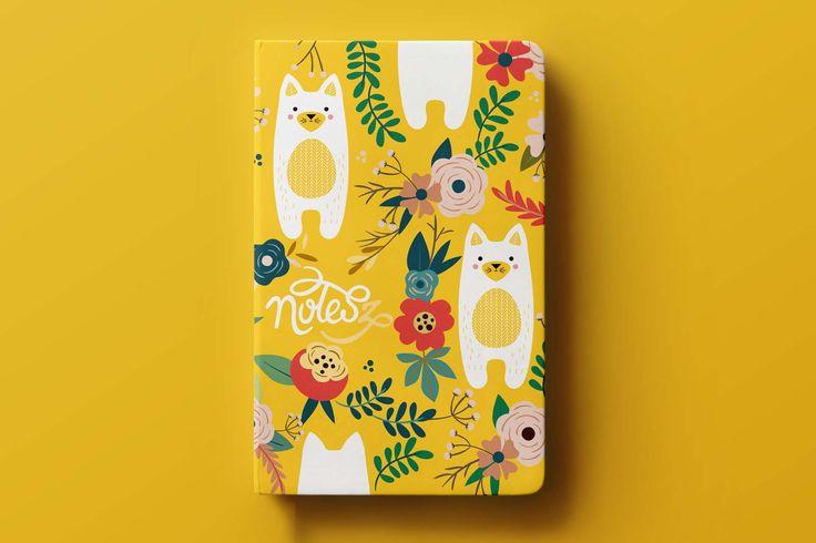 KITTY cat pocket notebook, notes(z) #stationery #baby #kidsroom #kitty #cat #illustration #design #notebook #cute